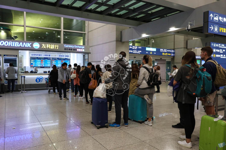 再オープン後の両替店/仁川国際空港